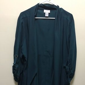 Plus Size SoftSurroundings Green Shawl/Coverup